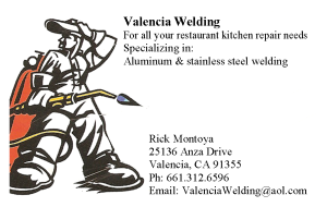 Valencia Welding of Santa Clarita, California