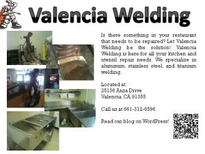 Valencia Welding Inc. of Santa Clarita, CA, specializes in aluminum and stainless steel welding for your kitchen repair needs.