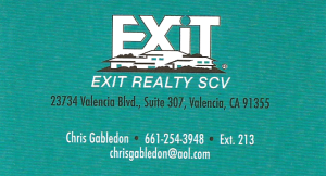 Chris Gabledon, Realtor for EXIT Realty SCV
