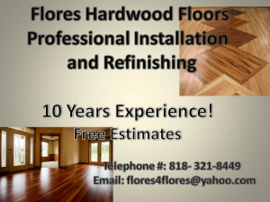 Flores Hardwood Floors