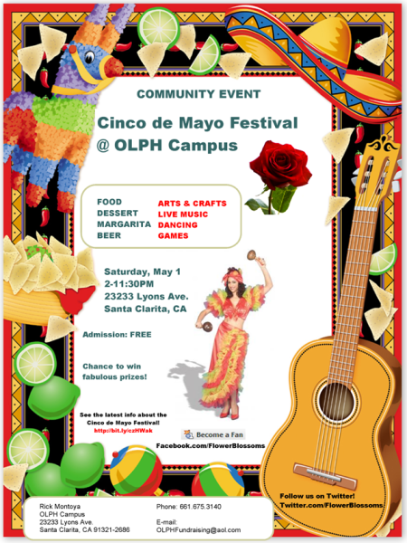 Community Event - Cinco de Mayo Festival at OLPH in SCV, California