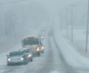 Follow these tips if you must drive in snowy or icy conditions.