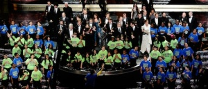 PS22, a choir of fifth graders from Graniteville, Staten Island, New York, wows a worldwide audience during the 83rd Annual Academy Awards in Hollywood, California.