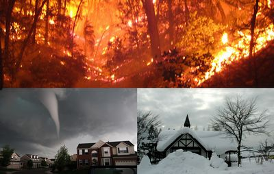 April 2011 has been marked by extreme weather. Tornadoes ravaged North Carolina and the southeastern United States. A springtime snowfall has covered Michigan and the Midwest. Wildfires have scorched Texas. Is the country in the eye of the perfect storm?
