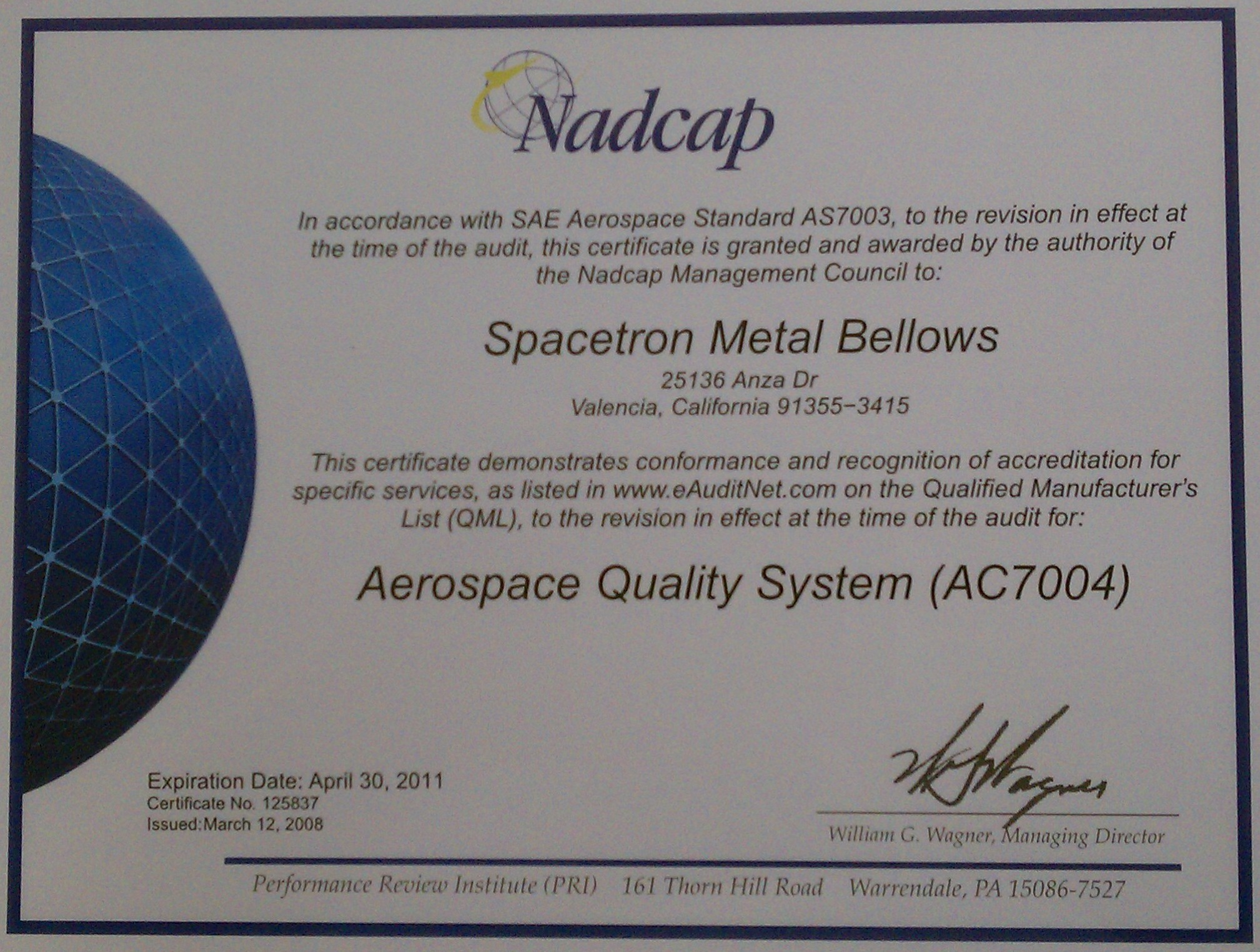 Nadcap Certification Flower Blossoms Blog